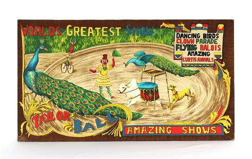 Taylor Ball World's Greatest Show Circus Textile