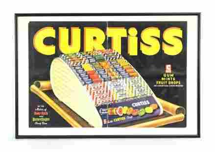 Curtiss Candies Original Advertisement, Framed