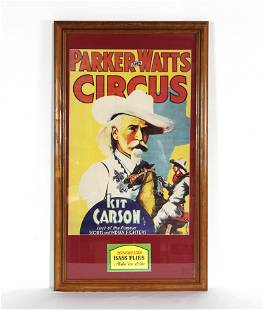 Parker and Watts Framed Circus Poster ft. Kit Carlson