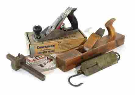VTG Wood Plane, Metal Plane, Wood Scribe, Brass Scale