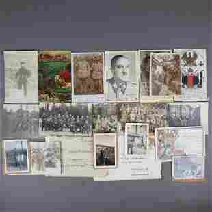 Konvolut Militaria - Fotos, Postkarten, Briefe, in