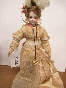 JUMEAU FRENCH BISQUE HEAD DOLL