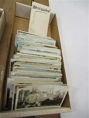 APPROX 300 POSTCARDS FROM WASHINGTON STATE