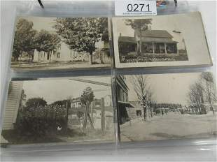 APPROX 88 REAL PHOTO POSTCARDS INCL BUILDINGS