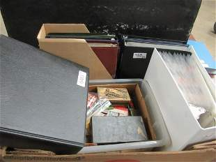 7 ALBUMS OF MATCHBOOKS, PLUS ONE BOX