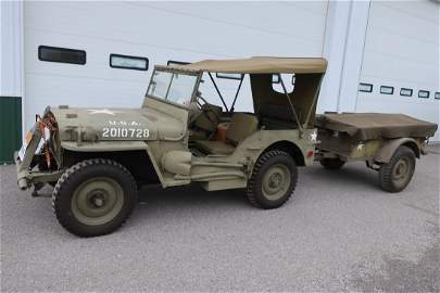 1941 Willy's Jeep MB with Military Trailer
