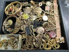 Large Group of Mostly Gold Filled Jewelry