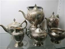 Very Ornate 6pc Sterling Tea Set