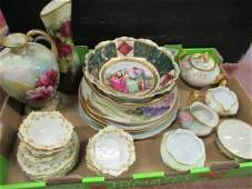 Large Lot of Hand Decorated Plates and Bowls