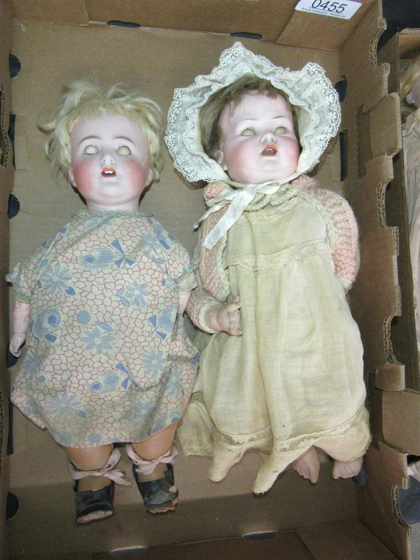 2 Dolls with Sleepy Eye and Open Mouth