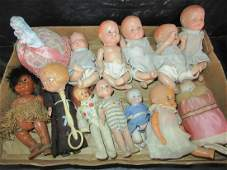 Mixed Group of Composition Baby Dolls