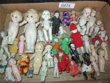 Mixed Group of China and Composition Small Dolls