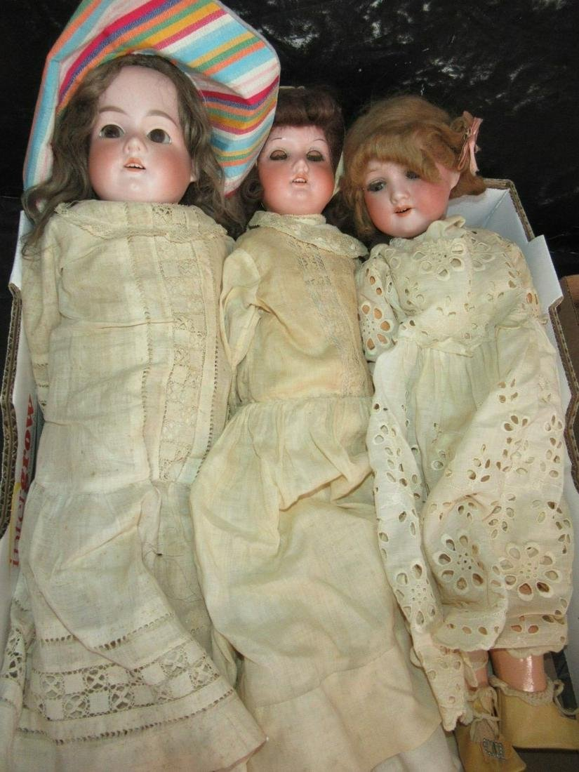 Lot of 3 Dolls incl. Marseille