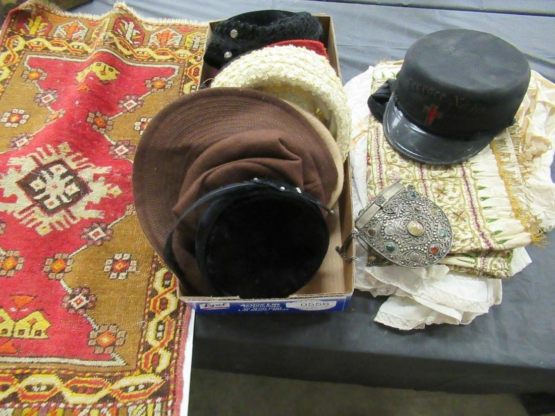 Mixed Textile Lot of Vintage Hats and Misc.