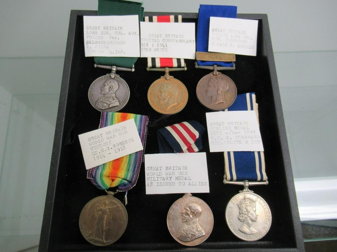 Tray of 6 British Military Medals