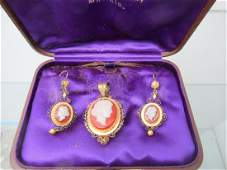 3pc Victorian Cameo Set