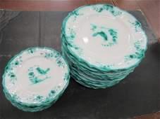Italian Plates Hand Decorated w/ Birds + Flowers
