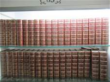 Set of Approx. 35 Leather Bound Books by Dumas
