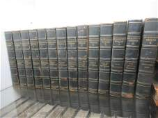 Set of 14 Leather Bound Books Dated 1896 & 1897