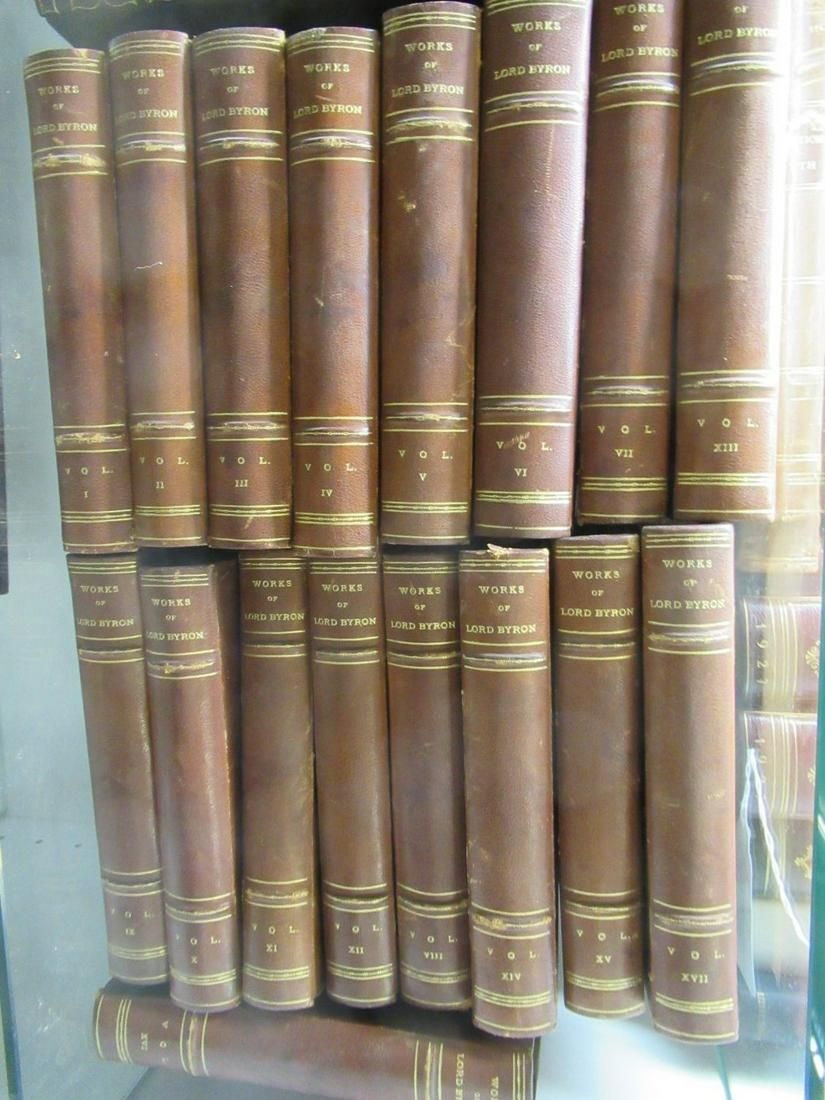 Set of 17 Leather Bound Books