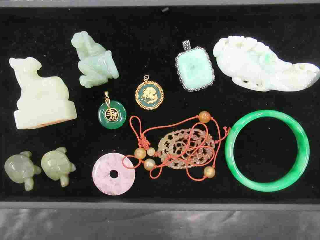 Group of Chinese Stone and Jade Items