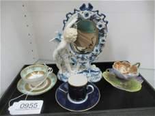 3 Porcelain Cups and 1 Porcelain Figure