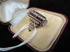 10k Gold Victorian Ring with Garnet and Pearls