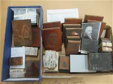Large Group Mostly Copper Printing Plates, etc