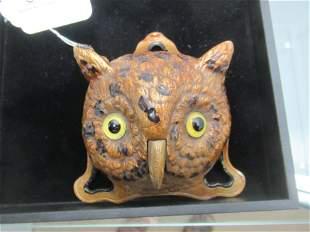 Cast Iron Owl Service Bell