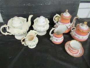 2 Partial Porcelain Tea Sets