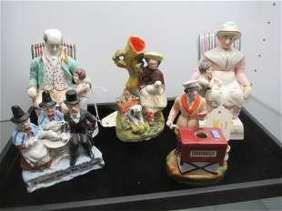 Tray of Staffordshire Figures