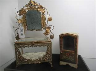 2 Unusual Jewelry Boxes, 1 Brass