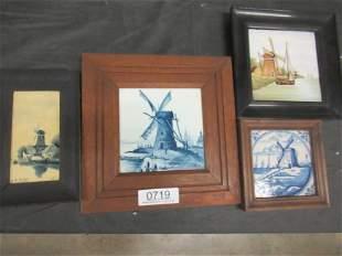 4 Delft Style Plaques