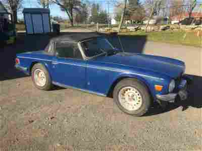 1975 Triumph TR6 Convertible, One Owner