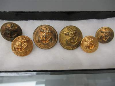 6 Confederate Naval Buttons