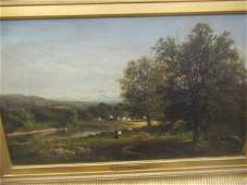 J.H. Beers Oil on Canvas Painting of Landscape