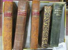 Early Books incl. Spirit of Laws Circa 1802 Etc