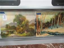 2 Paintings on Board by Paul Wesley Arndt