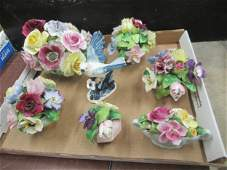 Group of Staffordshire  Other Porcelain Flowers