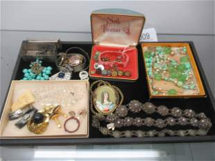 Tray of Mostly Costume Jewelry