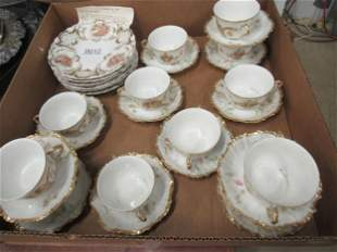 Limoge Luncheon Set with Cupids and Children