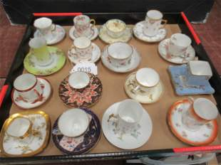 Box Lot of Misc Cups and Saucers