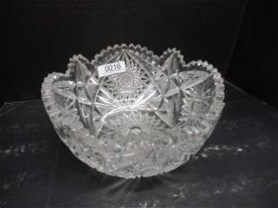 Very Large Cut Glass Bowl