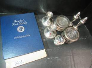 Tray of Misc. Sterling Pieces, Book of Pewter