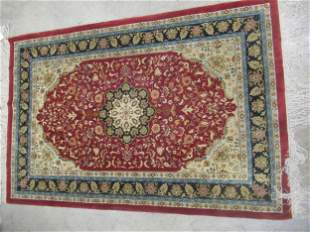 Silk Chinese Handmade Oriental Rug