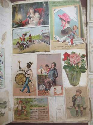 Book Filled with Trade Cards etc