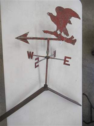 Eagle Weathervane with Early Red Paint