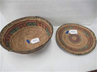 2 Baskets - 1 appears to be Native American
