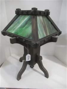Arts & Crafts 4 Panel Glass Lamp