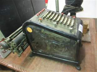 Early Adding Machine by Burroughs Detroit MI etc